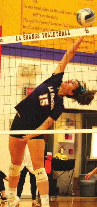 La Grange Volleyball Downs Giddings to Reclaim First Place