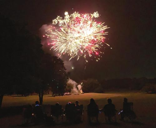 Fireworks explode over the golf course at Frisch Auf! Valley Country Club in La Grange last year. Record file photo by Jeff Wick